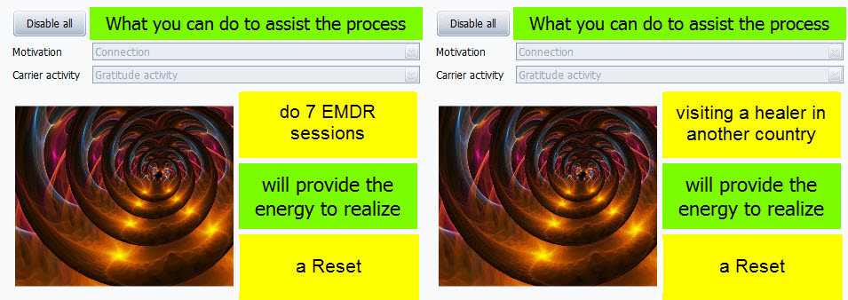 EMDR or travelling reset