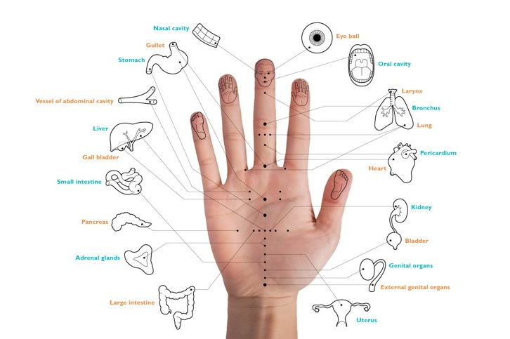 Hand-acupuncture biofeedback bioresonance