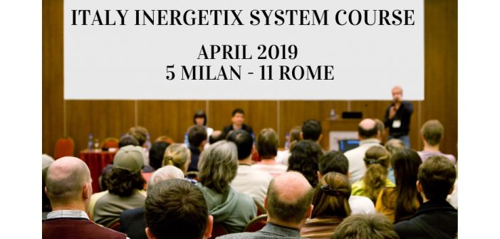 Italy Inergetix System Course- April 2019