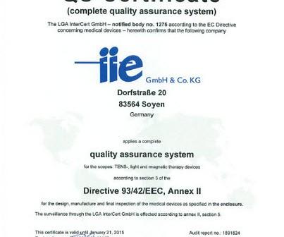 CE-Zertifizierung für Health Navigator
